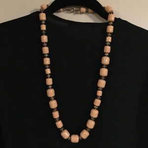 J. Crew Blush Pink Crystal Beaded Necklace
